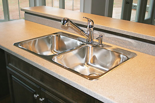 stainless steel kitchen sink photograph