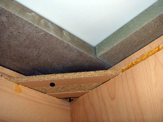under-counter cabinet corner details